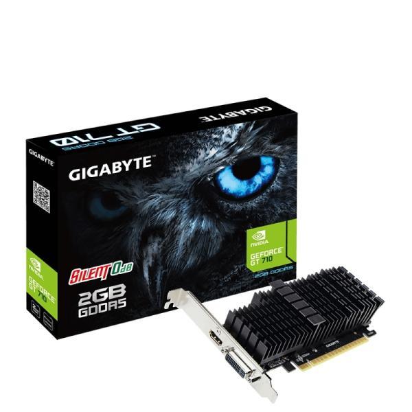 Видеокарта PCI-E Gf  GT710 GIGABYTE GV-N710D5SL-2GL, 2GB GDDR5 64bit 954/5012МГц, PCI-E3.0, HDCP, DVI/HDMI, 19Вт