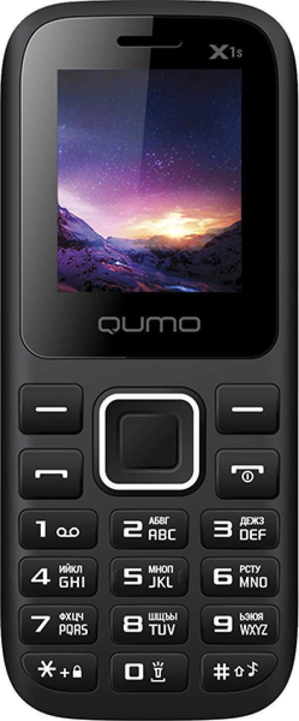 "Мобильный телефон 2*SIM QUMO Push X1s, GSM850/900/1800/1900/GPRS, 1.77"" 160*128, SD-micro/SDHC-micro, BT, MP3 плеер, черный"