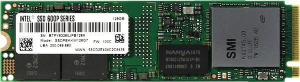 Накопитель SSD M.2  128GB Intel 600p SSDPEKKW128G7X1, MLC, 770/450MB/s