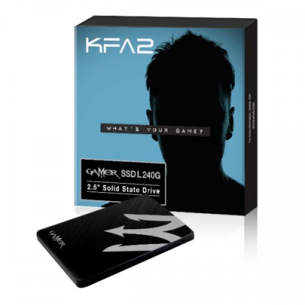 "Накопитель SSD 2.5"" SATA  240GB KFA2 Gamer L (GIAA1D4M4BG49CNSBCKDXN), SATAIII, 3D NAND TLC, 500/520MB/s"
