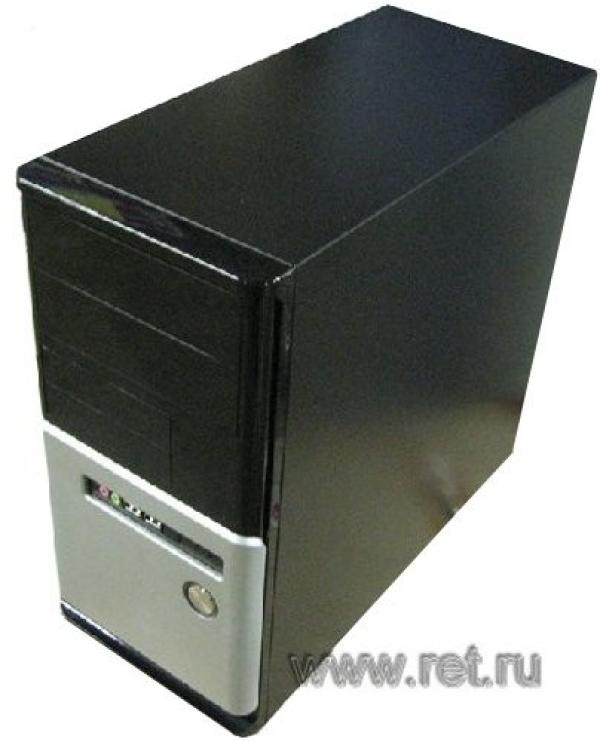 Компьютер РЕТ, Athlon 64 X2 5200+ 2.7 AM2/ ASUS M2N-MX Звук SPDIF LAN/ DDR2 2GB/ Gf 9600GSO 384M ТВ/ 250GB/ DVD-RW/ CF/MD/MMC/MS/MS Pro/SD/SM/xD/ YY mATX 350Вт USB Audio черный-серебристый WXH