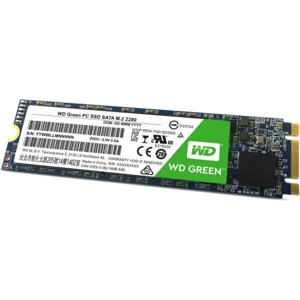 Накопитель SSD M.2  240GB WD WDS240G2G0B, SATAIII, TLC, 540/465MB/s
