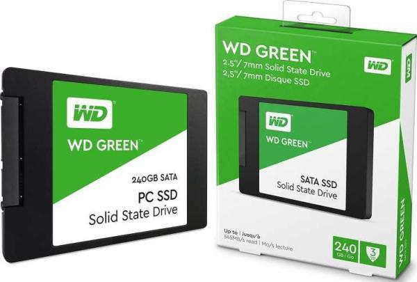 "Накопитель SSD 2.5"" SATA  240GB WD WDS240G2G0A, SATAIII, 3D TLC NAND, 545/430MB/s"