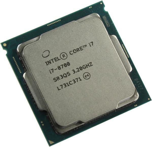 Процессор S1151v2 Intel Core i7-8700 3.2ГГц, 6*256KB+12MB, 8ГТ/с, Cofee Lake 0.014мкм, Quad Core, видео 1150МГц, 65Вт