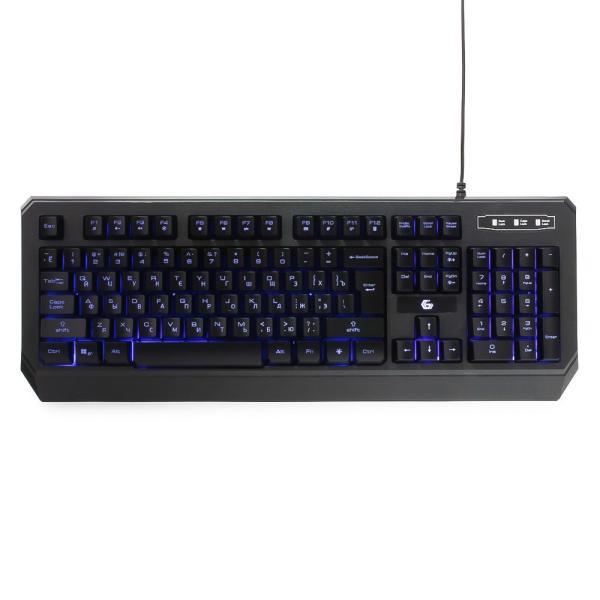 Клавиатура Gembird KB-G20L, USB, подсветка 1 цвет, черный