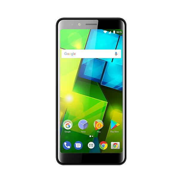 "Смартфон 2*sim BQ BQ-5340 CHOICE, 4*1.2ГГц, 8GB, 5.34"" 960*480, SDHC-micro, 3G, GPS, BT, WiFi, радио, 2 камеры 5/5Мпикс, Android 7, 71*147*9.2мм 151г, глянцевый черный"