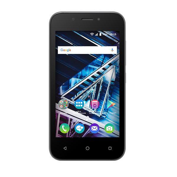 "Смартфон 2*sim BQ BQ-4028 UP!, 2*1.3ГГц, 8GB, 4"" 800*480, SD-micro, GSM/3G, GPS, BT, WiFi, G-sensor, радио, 2 камеры 5/2Мпикс, Android 6, 64*124*10.2мм 112г, черный"