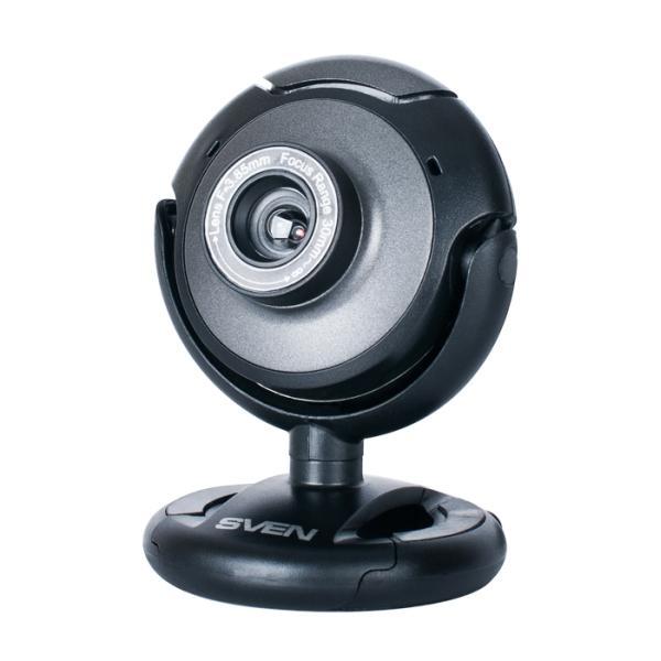 Видеокамера USB2.0 Sven IC-310, 640*480, до 30fps, крепление на монитор, встр. микрофон, черный