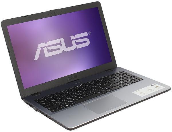 "Ноутбук 15"" ASUS X542UA-DM431, Core i3-7100U 2.4 4GB 256GB 1920*1080 USB2.0/2*USB3.0 USB-C LAN WiFi BT HDMI/VGA камера SD 2кг DOS серый"