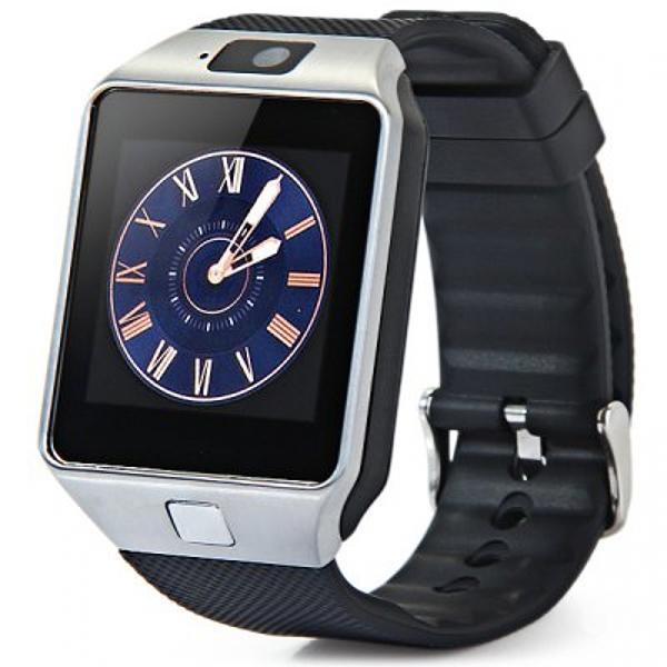 "Часы - телефон SMART WATCH DZ09, GSM 850/900/1800/1900, 1.54"", 240*240, сенсорный, BT, камера 0.3Мпикс, Android, SD micro, серебристый"