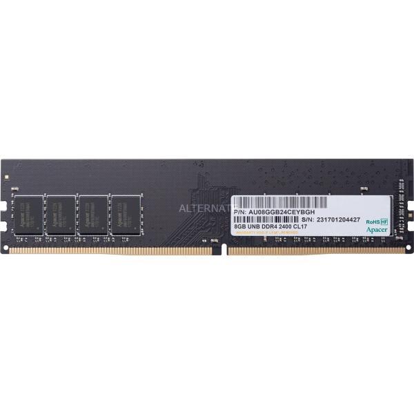 Оперативная память DIMM DDR4  8GB, 2400МГц (PC19200) Apacer AU08GGB24CEYBGH, 1.2В