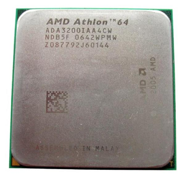 Процессор S939 AMD Athlon 64 3200+, 512ch, 1000МГц, Venice 0.09мкм, AMD64, SSE3, 3DNow, Dual Channel, ADA3200AA4BW