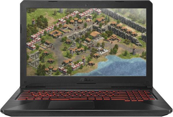 "Ноутбук 15"" ASUS FX504GD-E4267, Core i7-8750H 2.2 8GB 1Тб+128GB SSD 1920*1080 IPS GTX1050 2GB 2*USB3.0/USB2.0 LAN WiFi BT HDMI камера SD DOS черный"