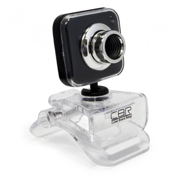Видеокамера USB2.0 CBR CW 834M Black, 640*480, до 30fps, крепление на монитор, встр. микрофон, черный