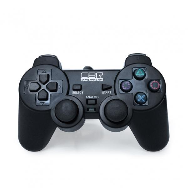 Игровой манипулятор GamePad для PC/PS2/PS3 CBR CBG 950, USB, вибрация, 4 позиции, 7 кнопок, 2 аналоговых джойстика, 4 триггера, черный