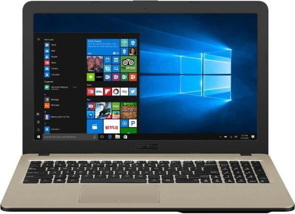 """Ноутбук 15"""" ASUS X540NA-GQ005T, Celeron N3350 1.1 4GB 500GB USB2.0/USB3.0 LAN WiFi BT HDMI камера SD 2.1кг W10 черный-золотистый"""