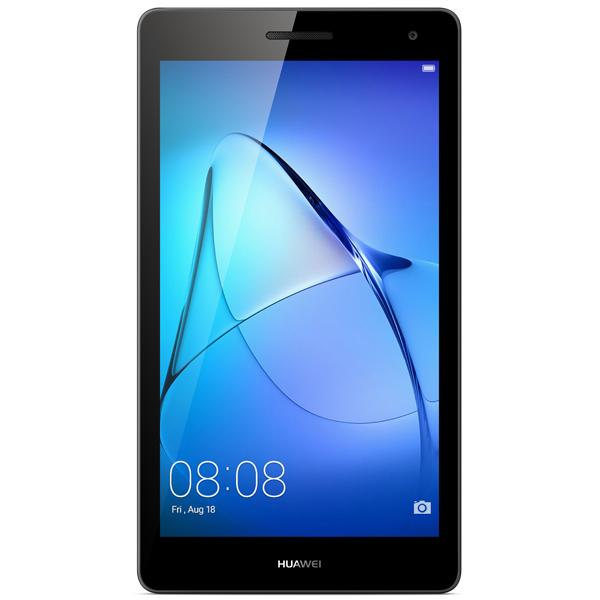 "Планшет  7"" Huawei MediaPad T3 7.0 53010adp, 1024*600, Qualcomm 1.3ГГц, 16GB, 3G, WiFi, GPS, BT, SD-micro, 2 камеры 2/2Мпикс, Android 7, 187.6*103.7*8.6мм 275г, серый ????"