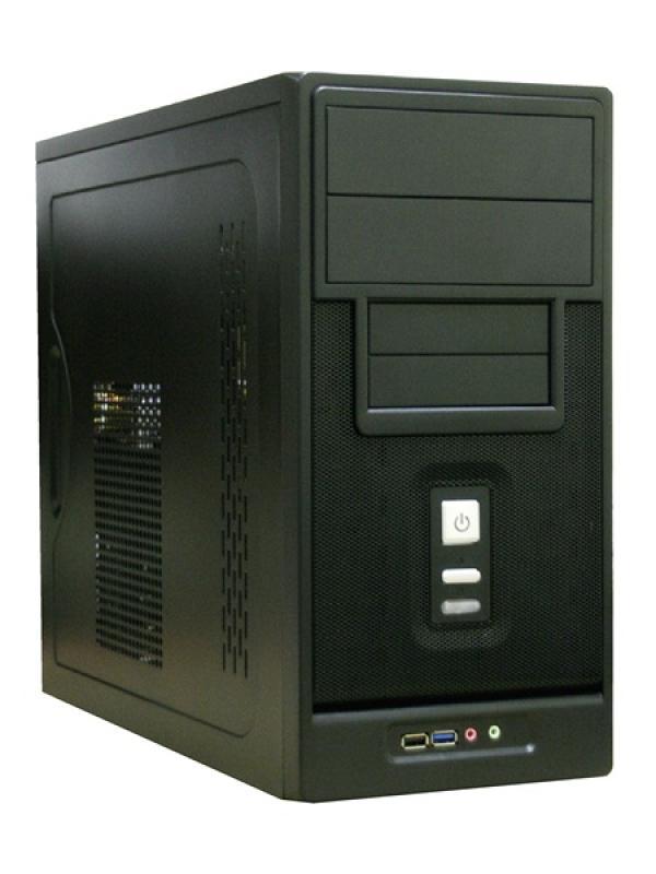"Корпус mATX MiniTower TX-366B, без БП, 2*5.25""+2(4)*3.5""+0(1)2.5"", Audio/USB3.0/USB2.0, без вентиляторов (2 места), черный-серебристый"