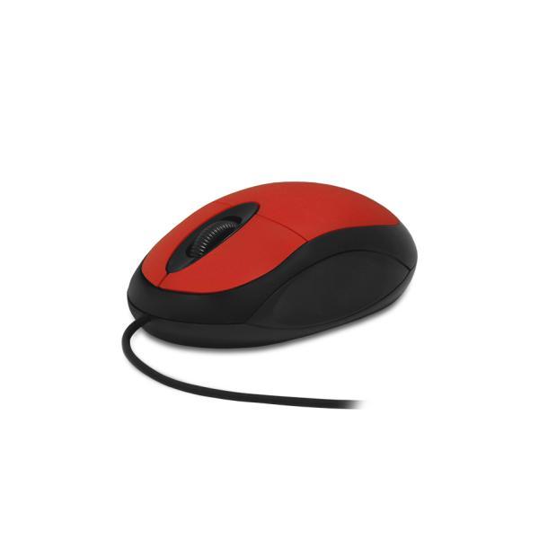 Мышь оптическая CBR CM 102, USB, 2 кнопки, колесо, 1200dpi, для ноутбука, красный-черный