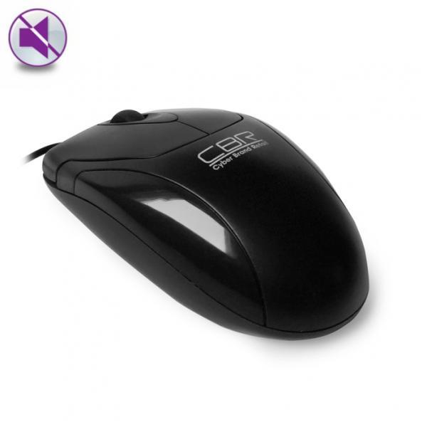 Мышь оптическая CBR CM 302, USB, 2 кнопки, колесо, 1200dpi, бесшумная, черный