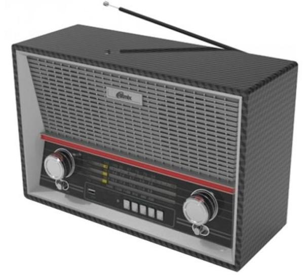 Радиоприемник Ritmix RPR-102 BLACK, MP3, AM/FM/SW, USB2.0/MicroSD, AUX/MiniJack, аккумулятор/R20*6шт/220В, ПДУ, черный