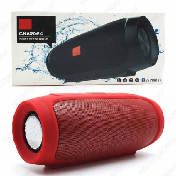 Колонки  Bluetooth  мобильные с MP3 плеером JB Charge 4, 30Вт, 20..20000Гц, USB, линейный вход, FM-радио, SD-micro, аккумулятор, пластик, 220*95*93мм 970г