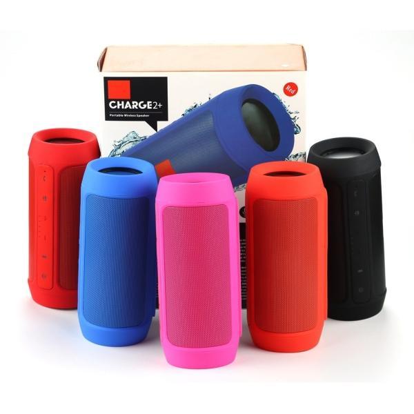 Колонки  Bluetooth  мобильные с MP3 плеером JB Charge 2+, 15Вт, 20..20000Гц, USB, линейный вход, FM-радио, SD-micro, аккумулятор, пластик, 185*79*79мм 600г