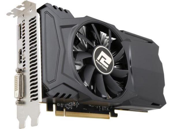 Видеокарта PCI-E Radeon RX 550 PowerColor AXRX 550 4GBD5-DHA, 4GB GDDR5 128bit 1071/7000МГц, PCI-E3.0, HDCP, DisplayPort/DVI/HDMI, Heatpipe, 75Вт