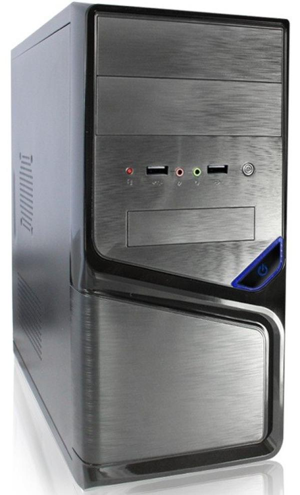 Компьютер РЕТ, Pentium G4500 3.5/ ASUS H110M Звук Видео DVI/HDMI/VGA LAN1Gb/ DDR4 4GB/ 1TB / mATX 350Вт 2USB2.0/2USB3.0 Audio черный