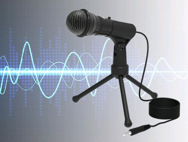 Микрофон Ritmix RDM-120, 50..16000Гц, кабель 1.8м, MiniJack, конденсаторный, подставка/крепление, черный