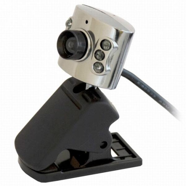 Видеокамера USB2.0 Ritmix RVC-017M, 1280*1024, до 30 fps, крепление на монитор, встр. микрофон, черный-серебристый
