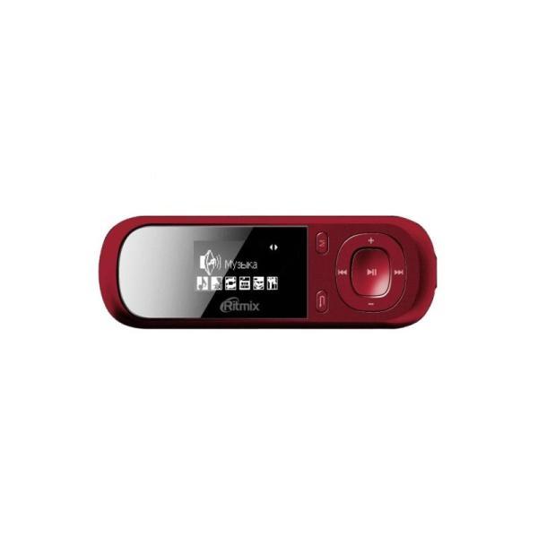 """Плеер MP3 Флэш Ritmix RF-3360, ЖК 1"""" 128*64, 4GB, считыватель карт памяти, USB2.0, FM радио, диктофон, аккумулятор, 10ч, красный"""