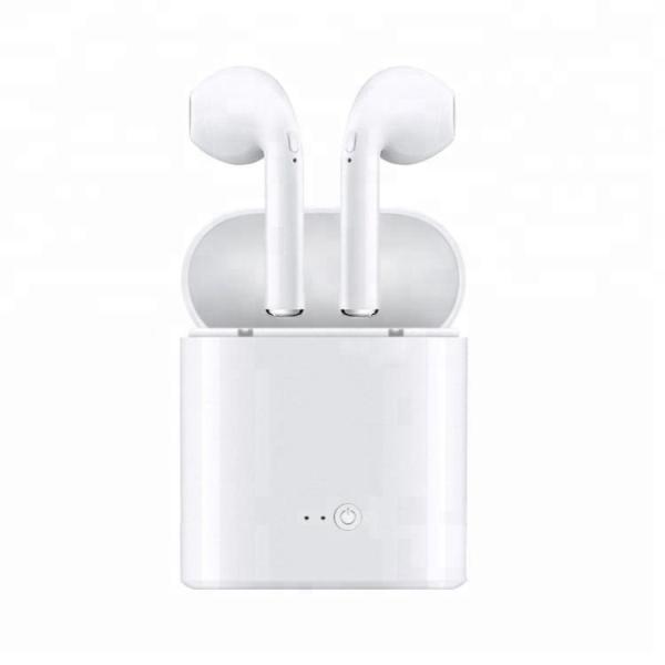 Наушники с микрофоном беспроводные BT вставные i7s white, чехол, 4ч, белый