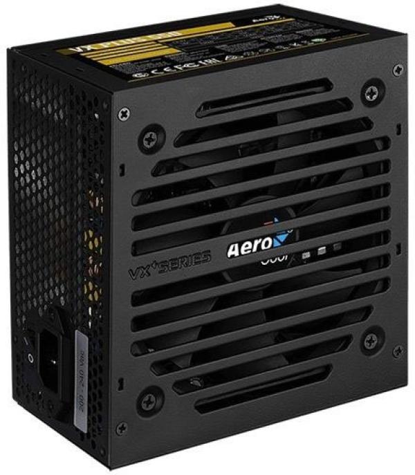 БП для корпуса ATX Aerocool VX-550 PLUS, 550Вт, 24+4pin, 4+4pin(CPU)/ 6+2pin(PCI-E)/ 3*4pin(molex)/FD/3*SATA, 120*120мм, 2ШП