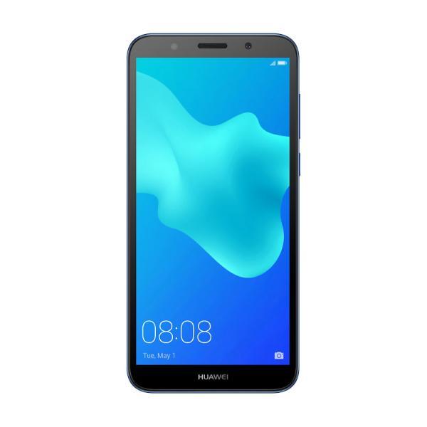 "Смартфон 2*sim Huawei Y5 Prime 2018, 4*1.5ГГц, 16GB, 5.45"" 1440*720, SDHC-micro, 4G/3G, GPS, BT, WiFi, G-sensor, радио, 2 камеры 5/13Мпикс, Android 8.1, 70.9*146.5*8.35мм 142г, синий"