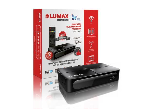 Приставка для цифрового эфирного ТВ DVB-T2 Lumax DV2118HD