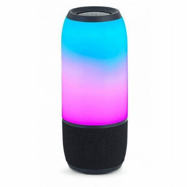 Колонки  Bluetooth  мобильные с MP3 плеером JB Pulse 3, 10Вт, 65..20000Гц, USB, линейный вход, FM, SD-micro, подсветка, аккумулятор, пластик, 223*92*92мм 960г