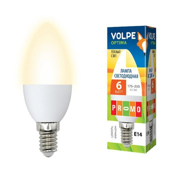 Суперцена на светодиодную белую лампу E14 Volpe Optima!