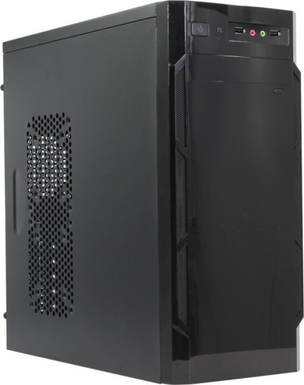 "Корпус ATX MidiTower Winard Qori 3201B, без БП, 1(3)*5.25""+0(5)*3.5"", Audio/2*USB2.0, 0(1) вент., черный"