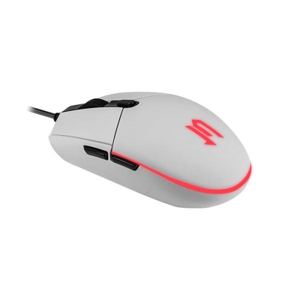 Мышь оптическая JETAccess OM-U55 LED, USB, 6 кнопок, колесо, 2400/1600/1200/800dpi, подсветка, белый
