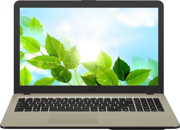 """Ноутбук 15"""" ASUS X540NV-GQ072, Pentium N4200 1.1 4GB 500GB GT920MX 2GB DVD-RW 2*USB2.0/USB3.0 LAN WiFi BT HDMI камера SD 1.9кг DOS коричневый"""