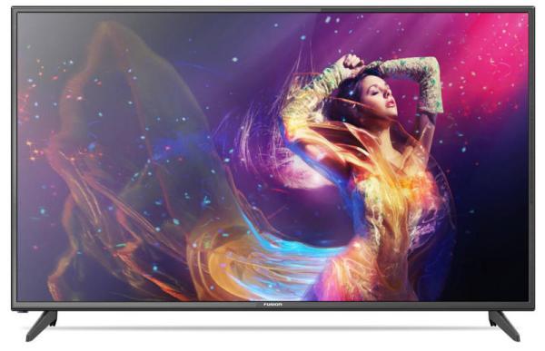 "ТВ LED 50"" Fusion FLTV-50B100T, 1920*1080, RCA/2HDMI/VGA, SPDIF(Coaxial)/MiniJack, CI+/2USB2.0, DivX/JPEG/MP3/MPEG4/MKV, DVB-T2/C, 2*8Вт, черный"