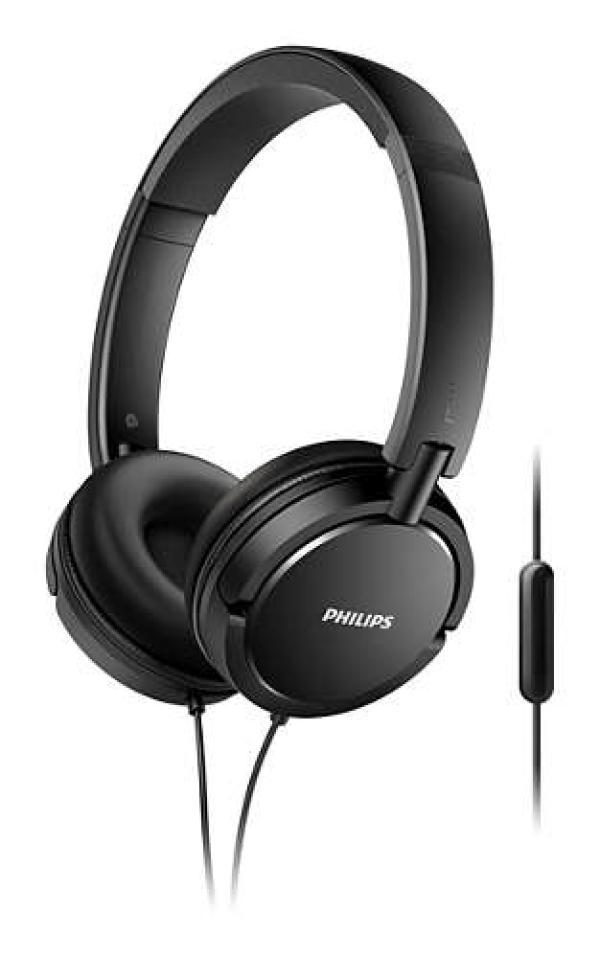 Наушники с микрофоном проводные дуговые закрытые Philips SHL5005/00, 32мм, 9..24000Гц, кабель 1.2м, MiniJack, складные, динамические, черный