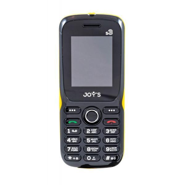 """Мобильный телефон 2*SIM Joy's S3, GSM850/900/1800/1900, 1.77"""" 160*128, камера 0.08Мпикс, 32M, SD-micro, USB, BT, 56.5*130.1*15.1мм 135г, черный-желтый"""