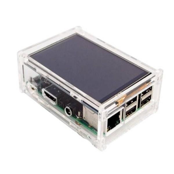 Корпус ACD для Raspberry Pi 3 (RA147), пластик, прозрачный, отверстие для LCD дисплея