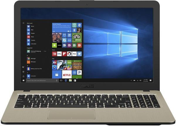 """Ноутбук 15"""" ASUS X540UA-DM597T, Core i3-6006U 2.0 4GB 256GB SSD 1920*1080 USB2.0/USB3.0 WiFi BT HDMI камера SD 1.75кг W10 черный-золотистый"""