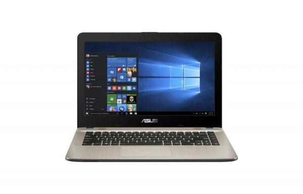 """Ноутбук 14"""" ASUS X441BA-GA114T, AMD A6-9220 2.5 4GB 1TB Radeon R4 DVD-RW USB2.0/USB3.0 USB-C LAN WiFi BT HDMI камера SD 1.75кг W10 чёрный-золотистый"""
