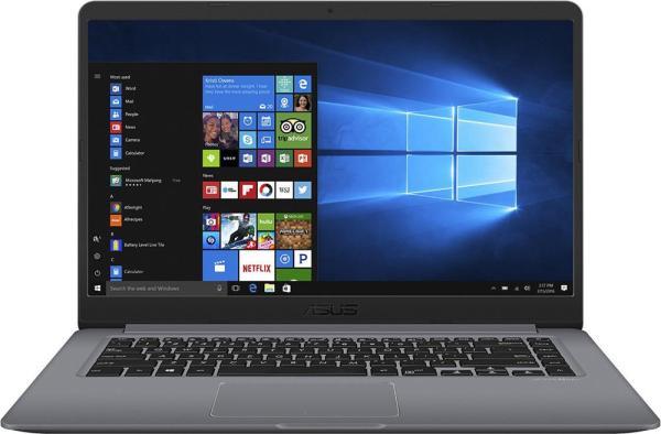 "Ноутбук 15"" ASUS S510UN-BQ219T, Core i5-8250U 1.6 6GB 1Тб 1920*1080 IPS MX150 2GB 2*USB2.0/USB3.0 USB-C WiFi BT HDMI камера SD 1.7кг W10 серый"