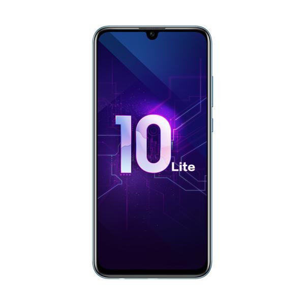 "Смартфон 2*sim Huawei Honor 10 Lite, 4*1.7+4*2.2ГГц, 32GB, 6.21"" 2340*1080, SDHC-micro, 4G/3G, GPS, BT, WiFi, радио, 3 камеры 13+2/24Мпикс, Android 9, 73.6*154.8*7.95мм 162г, синий"