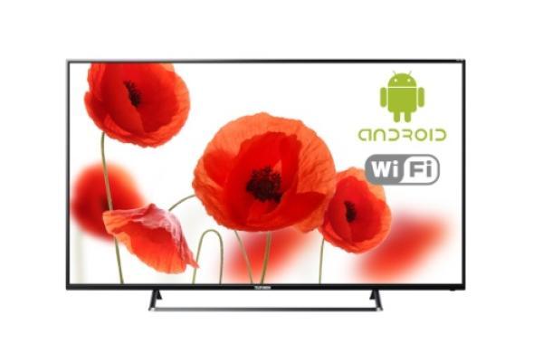 "ТВ LED 65"" TELEFUNKEN TF-LED65S75T2SU, 3840*2160, 3HDMI/RCA, SPDIF(Coaxial)/MiniJack, CI+/LAN/2USB2.0/Wi-Fi, MP3/MPEG4/MKV, Smart TV/Android 6.0, DVB-C/T2/S2, 2*8Вт, черный"